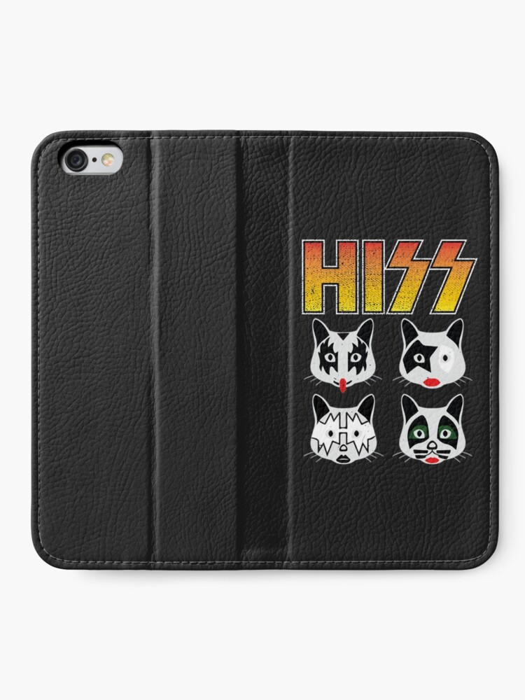 Alternate view of Hiss Kiss - Cats Rock Band iPhone Wallet