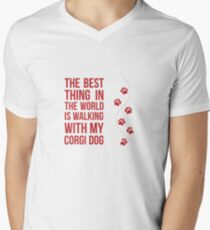 The Best Thing In The World Is Walking With My Corgi Dog - Pets, Pet Lovers T-Shirt