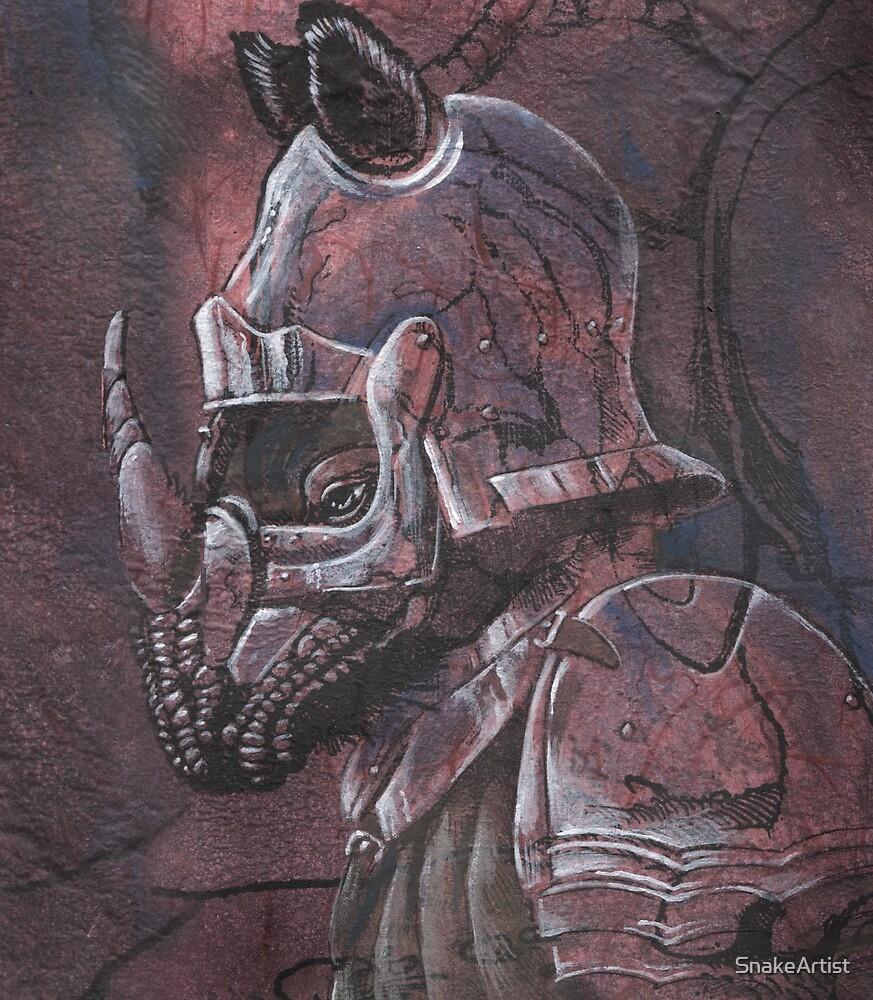 Rhino-Knight by SnakeArtist