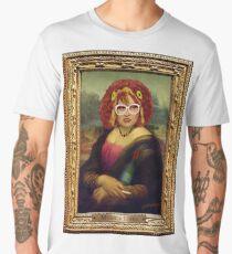 Moaner Linda (Gold Frame) Men's Premium T-Shirt