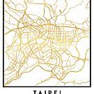 TAIPEI TAIWAN CITY STREET MAP ART by deificusArt