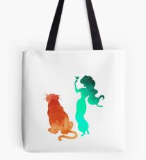 Princess and tiger Inspired Silhouette Tote Bag