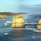 Panoramic Image of Two of the Twelve Apostles by John Gaffen