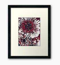 Blood flower Framed Print