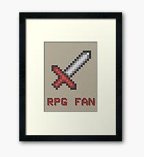 RPG FAN Sword Framed Print
