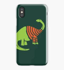 Brontosaurus in a Sweater  iPhone Case/Skin