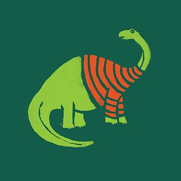 Brontosaurus in a Sweater  by fixtape