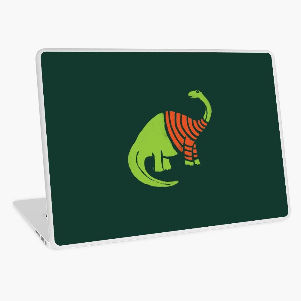 Brontosaurus in einer Strickjacke Laptop Folie
