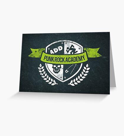 Punk Rock Academy Greeting Card
