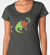 Brontosaurus in a Sweater  Women's Premium T-Shirt