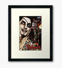 Majima Goro - Mosaic Framed Print