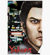 Kazuma Kiryu - Mosaic Poster