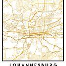 JOHANNESBURG SOUTH AFRICA CITY STREET MAP ART by deificusArt