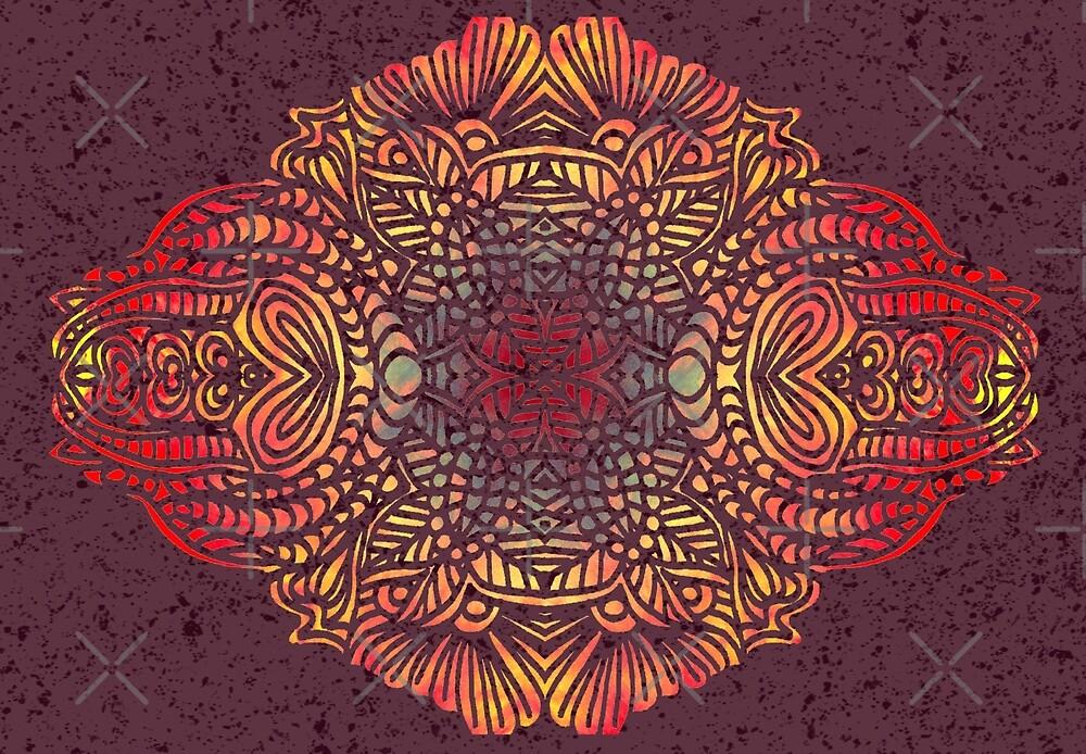 Orange Zentangle by artlovepassion