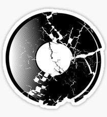 Broken Vinyl Record Sticker