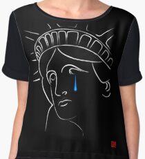 Statue Of Liberty tears Women's Chiffon Top