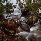Flowing Waterfall by robcaddy
