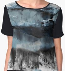 Abstract Marble Chiffon Top