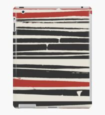 Abstract Black Red Stripe iPad Case/Skin