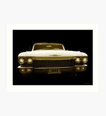 A 1960 Cadillac  Art Print