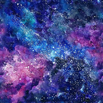 Space watercolor illustration by librebird
