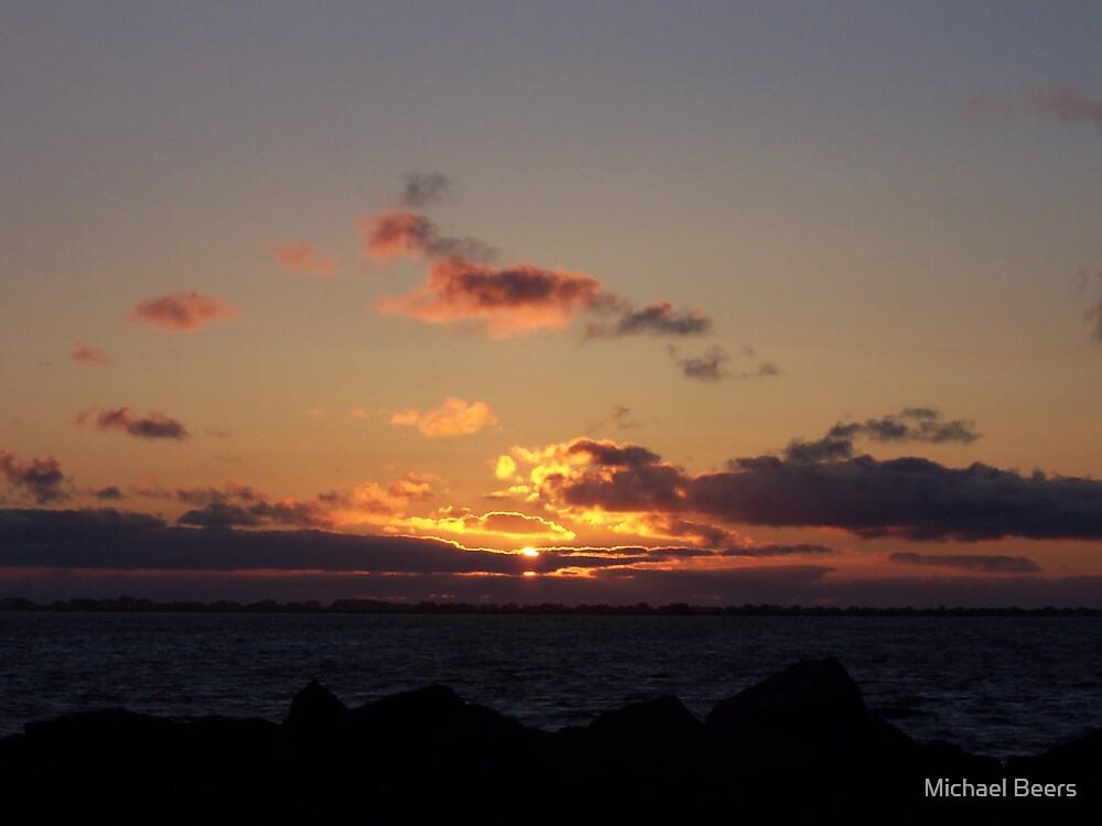 SUNSET AT WESTPORT WASHINGTON by Michael Beers