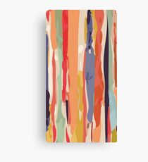 Abstract Vertical brush in MultiColor Canvas Print