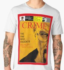 BREAKING BAD COVER MAGAZINE PARODY CRIME TIME Men's Premium T-Shirt