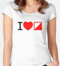 I Love Orienteering Women's Fitted Scoop T-Shirt