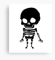 Funny little skeleton Canvas Print