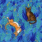 Cats in the Garden by inkedinred