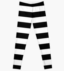 Black and White Big Stripe Leggings