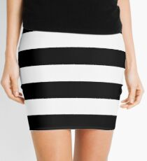 Black and White Big Stripe Mini Skirt