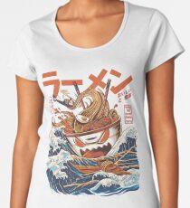 The Great Ramen off Kanagawa Premium Scoop T-Shirt