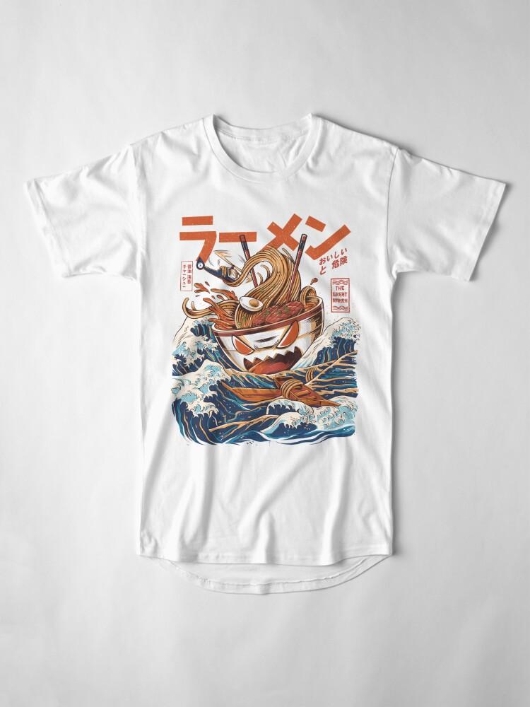 Alternative Ansicht von Die großen Ramen vor Kanagawa Longshirt