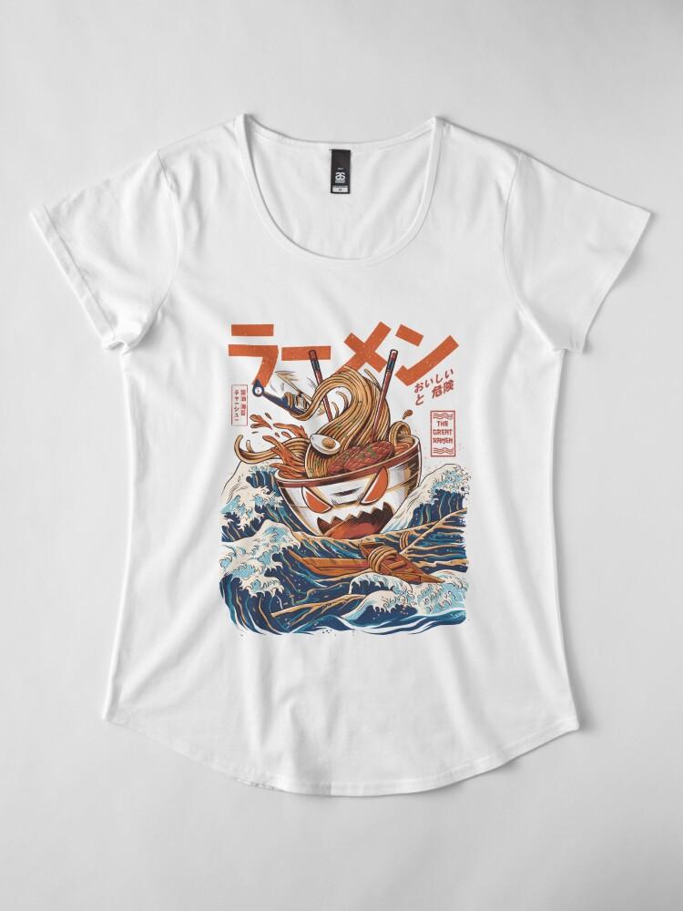 Vista alternativa de Camiseta premium para mujer El Gran Ramen frente a Kanagawa