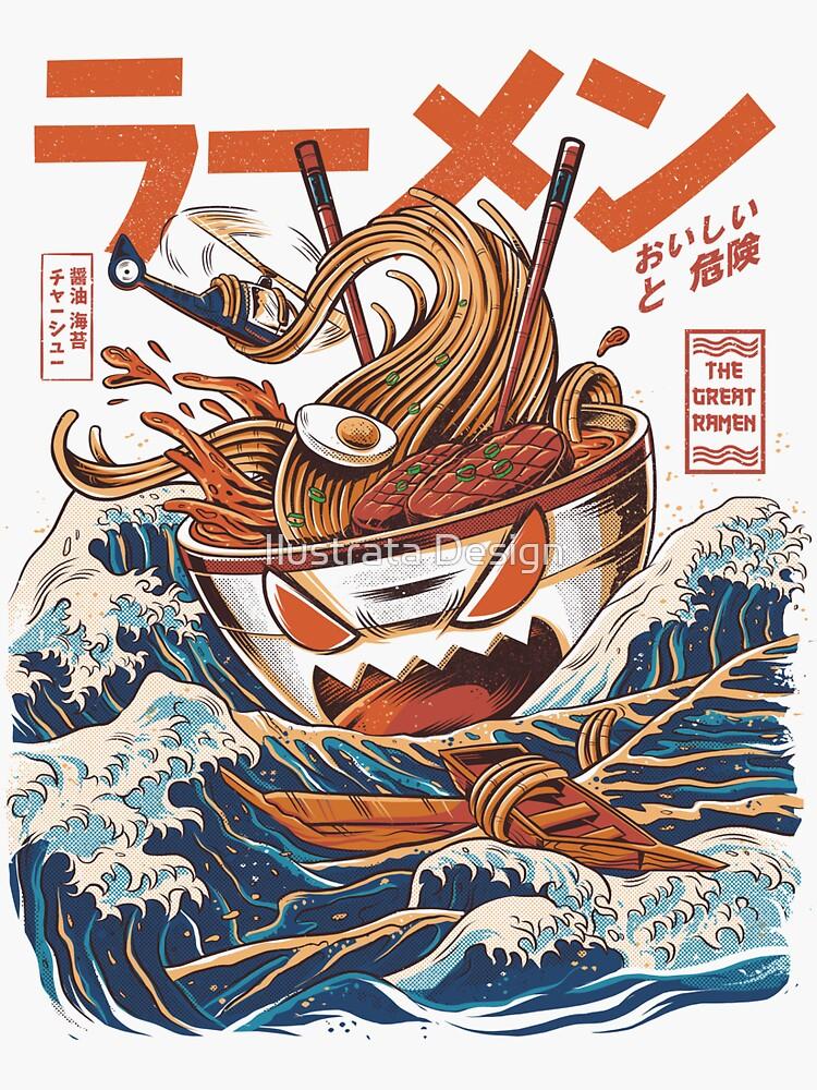 Die großen Ramen vor Kanagawa von ilustrata