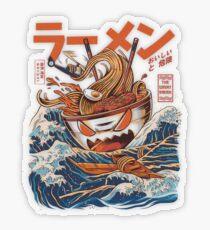 The Great Ramen off Kanagawa Transparent Sticker