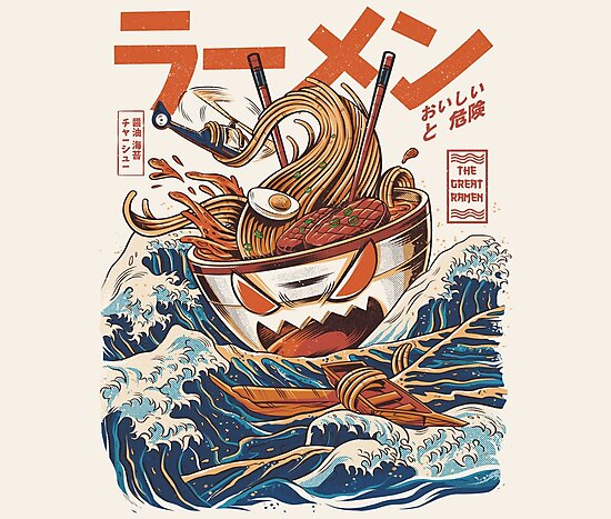 The Great Ramen off Kanagawa by Ilustrata Design
