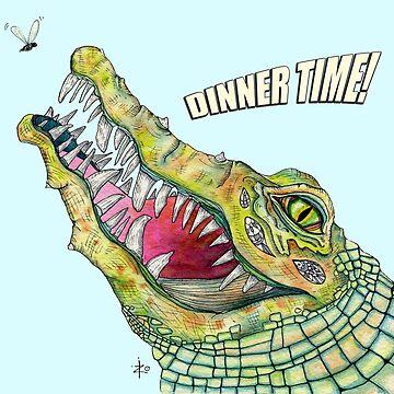 Dinner Time, Alligator by ZoJones