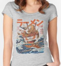The Great Ramen off Kanagawa Women's Fitted Scoop T-Shirt