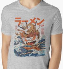 The Great Ramen off Kanagawa Men's V-Neck T-Shirt