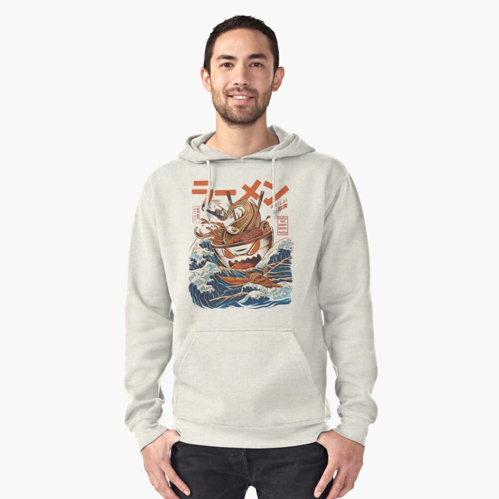 The Great Ramen off Kanagawa Pullover Hoodie Front