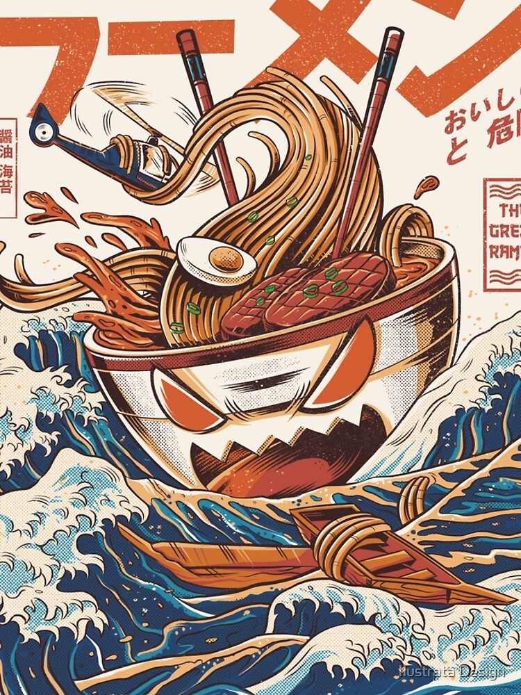 The Great Ramen off Kanagawa by ilustrata