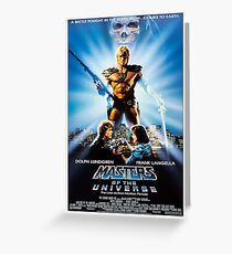 Masters of the Universe 80's Movie poster Greeting Card