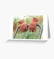 Gardener wanted Greeting Card