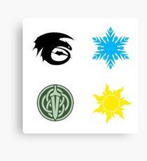 The Big Four - Symbols Canvas Print