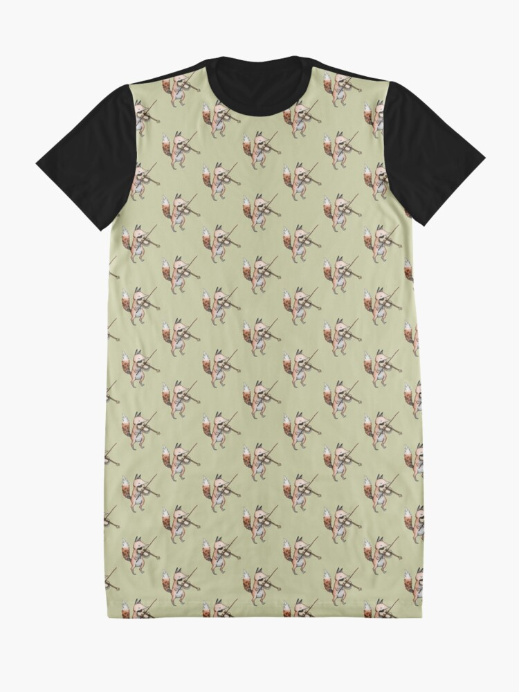 Alternate view of Violin Fox Graphic T-Shirt Dress