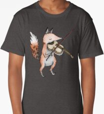 Violin Fox Long T-Shirt