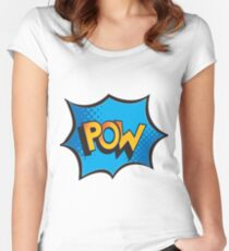 Comic explosion Women's Fitted Scoop T-Shirt